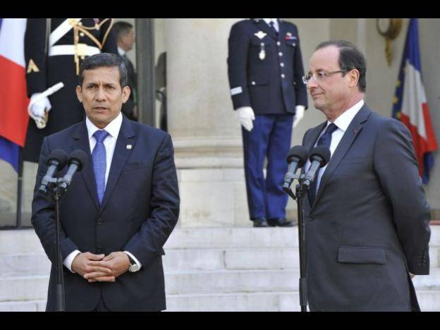 Presidents Humala and Hollande welcome Peru-EU FTA