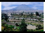 Old mansions and green fields in Arequipa's countryside