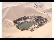 The Huacachina oasis is hot, day and night