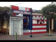 The American Embassy Café, a home away from home