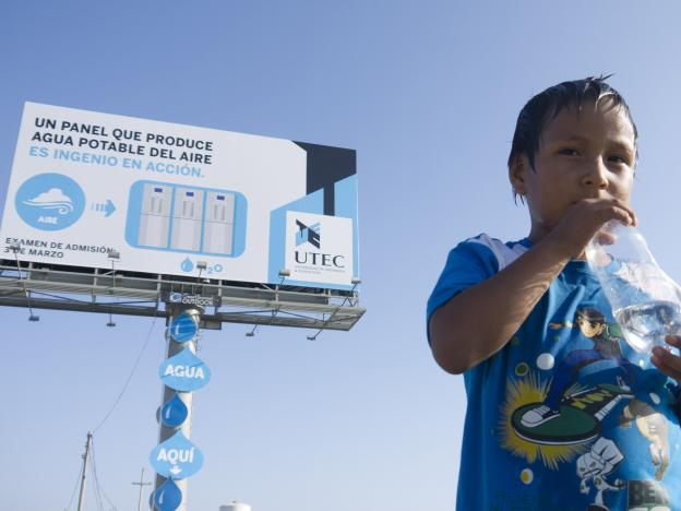 First Water Generating Billboard in the World