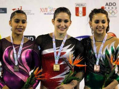 Peruvian gymnast gets the gold at South American championship