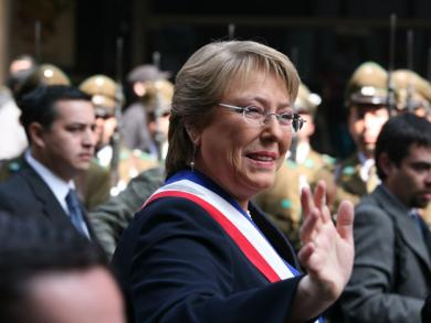 Michelle Bachelet sworn in as president of Chile today