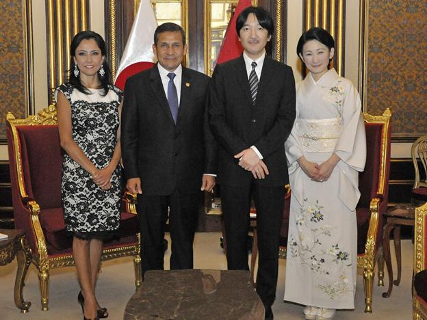 Prince Akishino and Princess Kiko of Japan visit Peru