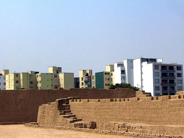 Lima, where your neighbor is often a monumental archaeological site