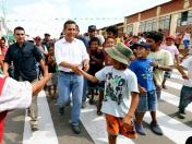 Peruvian president urges parents to send their children to school