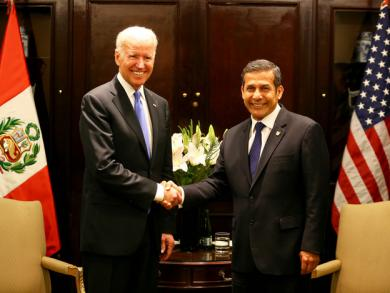 Peru's Ollanta Humala meets with US vice president Joe Biden