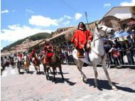 Horses and riders travel for five days to celebrate the life of Tupac Amaru II