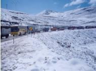 Woman dies after snow causes long delays on Peru's Central Highway