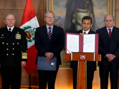 President Humala approves new Peru-Chile Border Map