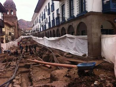 Inca constructions newly unearthed in Cusco
