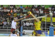 Peru volleyball team loses to Brazil