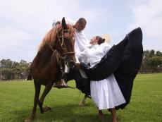 Peruvian Paso horse competition takes place in Lambayeque
