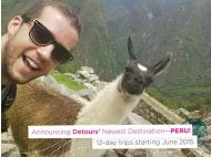 DETOURS elects Peru as 2015 travel destination