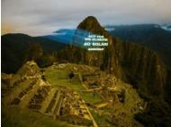 Greenpeace projects call to save the planet on face of Huayna Picchu