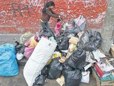 Christmas leftovers trash and pollute streets of Lima, Peru