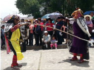 Huacones de Mito kick off 2015 with dance and whips