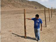 Man levels archaeological site and builds a fence in La Libertad