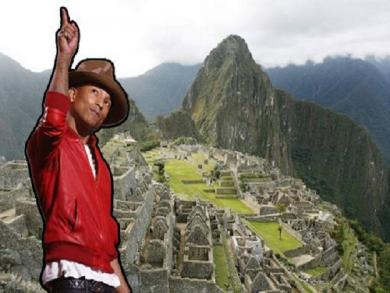 Pharrell Williams arrives in Cusco to visit Machu Picchu