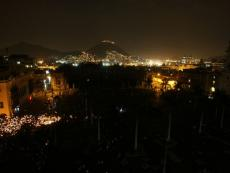 Lima was glowing by candlelight on Saturday for global environmental campaign