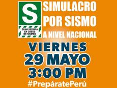 Peru: First earthquake drill this year scheduled for tomorrow afternoon