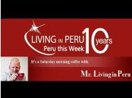 Saturday morning coffee with Mr. Living in Peru!