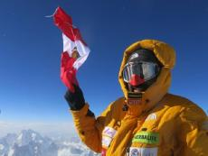 Peruvian climber Richard Hidalgo celebrated Fiestas Patrias from Gasherbrum II