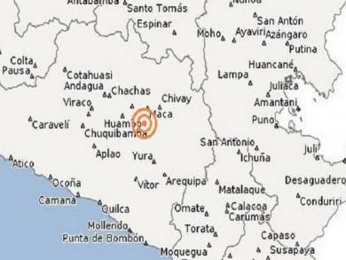 Earthquake of magnitude 4.9 grades hits Arequipa