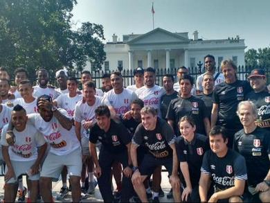 Peru men's soccer team visited the White House