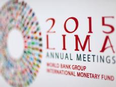 World Bank and IMF Annual Meetings kick off today in Lima