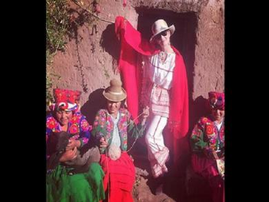 Katy Perry can't get enough of Peru, returns to Lake Titicaca