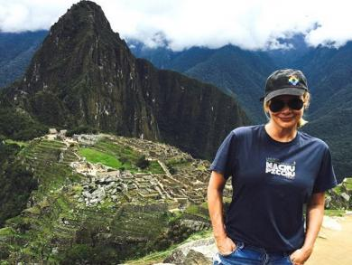 'The Walking Dead' actress, Laurie Holden, visits Machu Picchu