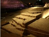 Miraflores: This is how the Huaca Pucllana looks at night