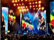 Guns N' Roses fans camped outside stadium