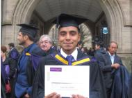 Amazonas native graduates first place from University of Manchester