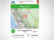 Sismos Perú: The new app from the IGP