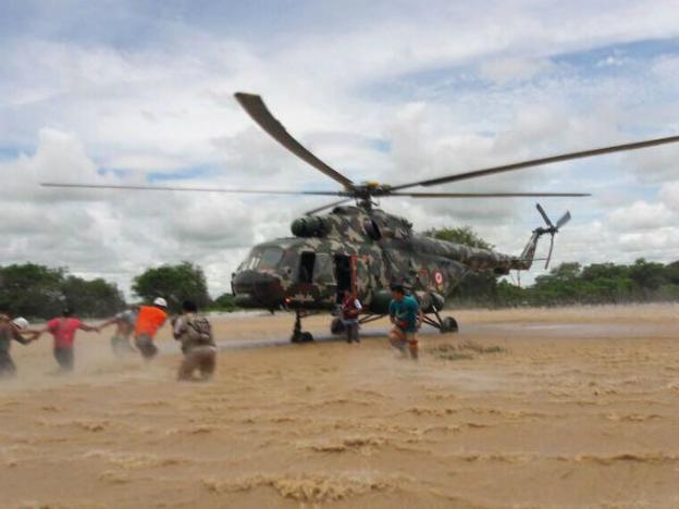 Military responds to Peru's natural disasters