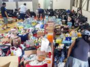 Volunteers and donors helping Peru